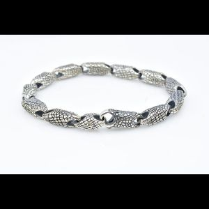 David Yurman silver Gator bracelet 8.5 in